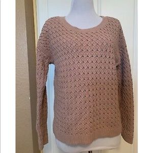 OLD NAVY BLUSH PINK KNIT PULLOVER SWEATER